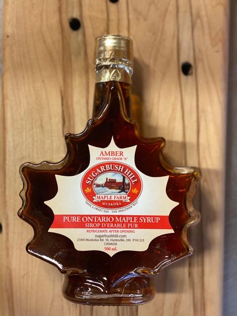500ml Glass Maple Leaf shaped bottle
